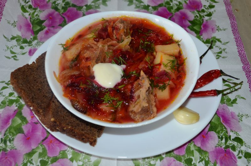 Piletina Borsch - 5 detaljnih recepata za kuhanje