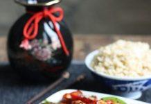 teriyaki vistas gaļa ar dārzeņiem