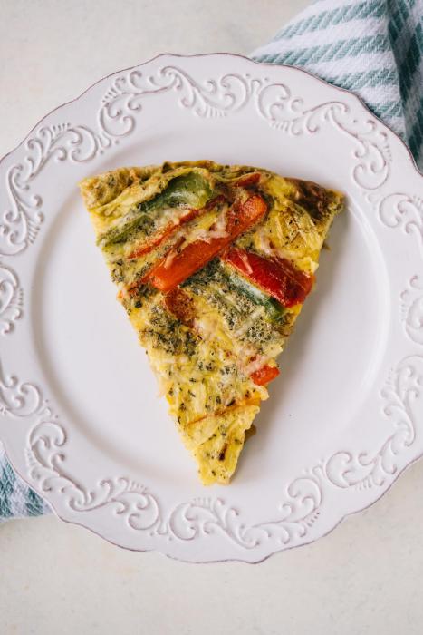Omelette aux légumes au four
