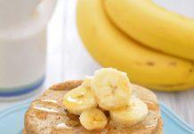 auzu pārslu pankūka ar banānu