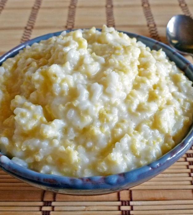 Bouillie de riz et de mil