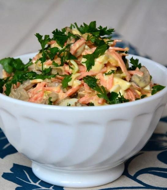 Salade au Poulet, Champignons et Haricots