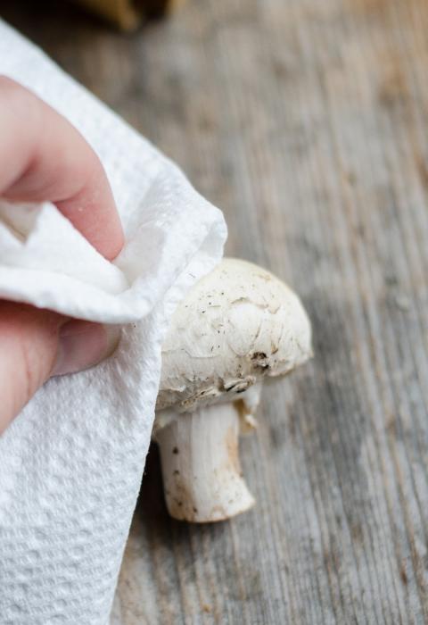 nettoyage des champignons