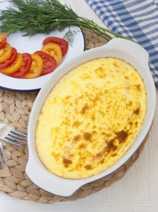 omelette au jaune