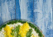 kūpinātas skumbrijas mimozas salāti