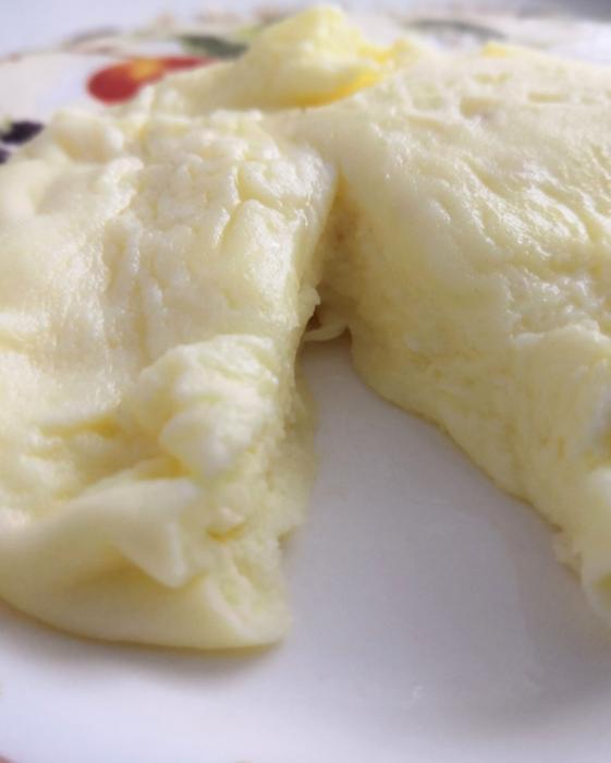 omelette dans le paquet
