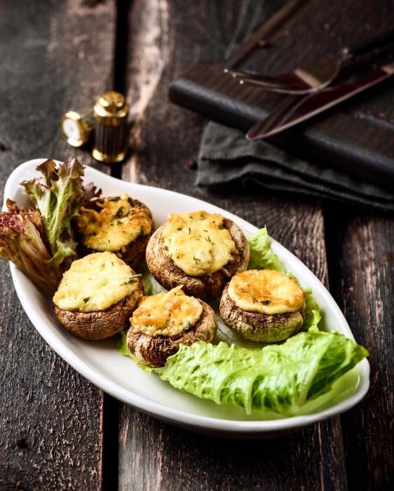 champignons farcis à la viande hachée et aux légumes