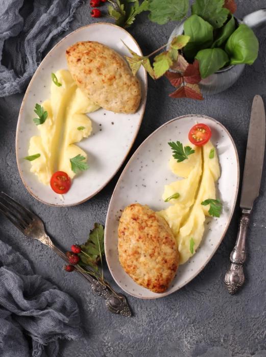 côtelettes de dinde au fromage
