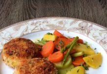 Chum laša kotletes - sulīgu zivju kūku recepte