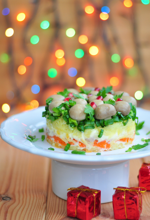 Vistas un šampinjonu salāti