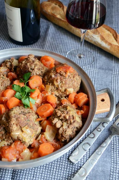 ragoût de légumes aux boulettes de viande