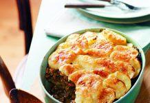 kastrolis ar maltu gaļu un āboliem