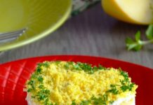 gỏi gà với nấm và phô mai