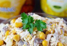 salade de poulet à l'ananas et aux champignons
