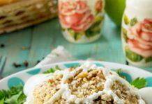 salad rùa với thịt gà và táo